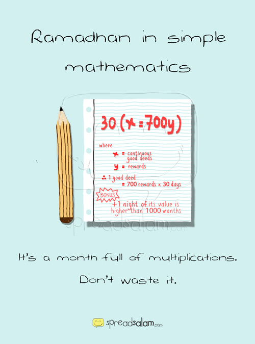 Ramadhan in Simple Mathematics