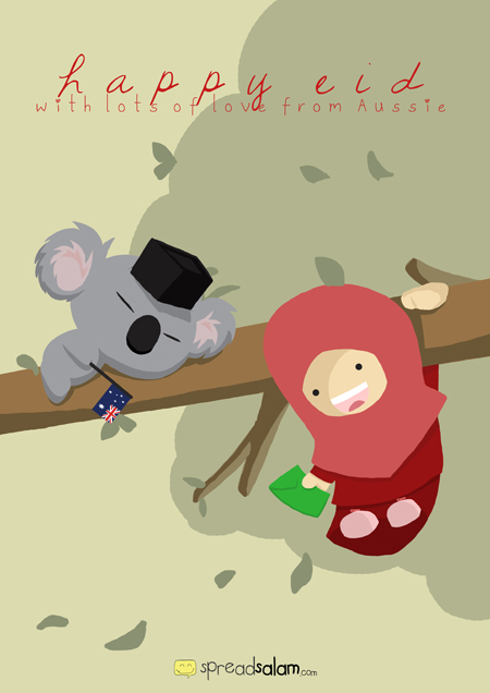 Happy Eid from SpreadSalam - Australia
