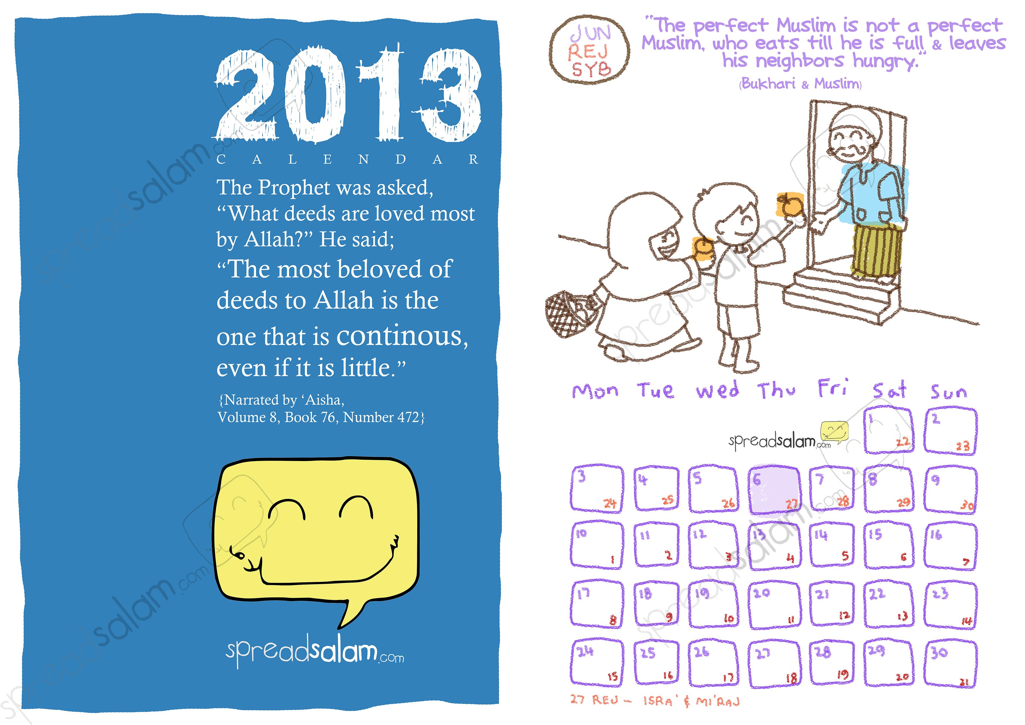 SpreadSalam 2013 Calendar